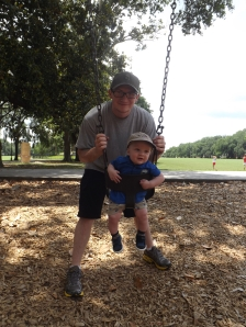Swinging in Forsyth Park
